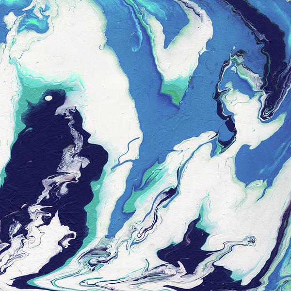 Mixed Media - Blue Rhapsody- Art By Linda Woods by Linda Woods