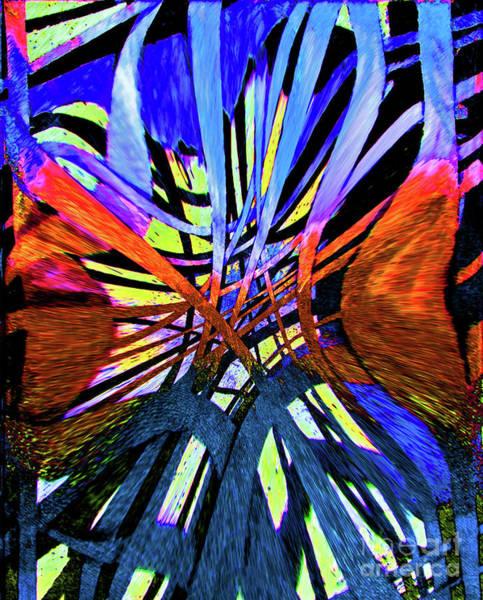 Photograph - Blue Ribbon Abstract by Karen Adams
