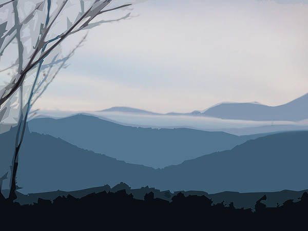 Blue Ridge Above The Clouds Art Print