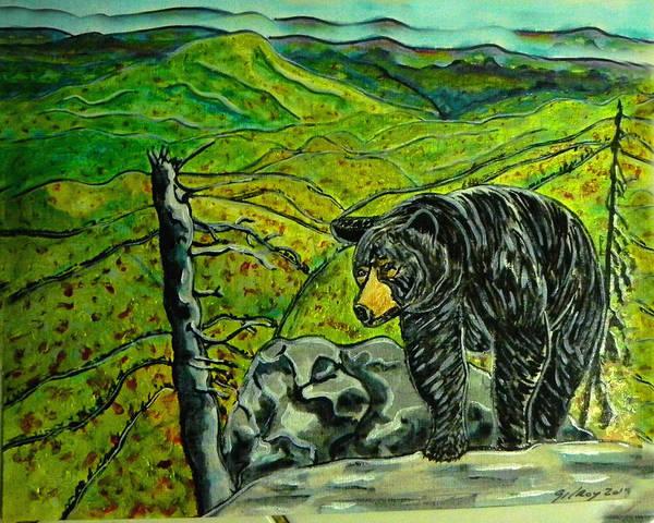 D.w Painting - Blue Ridge Bear by W Gilroy