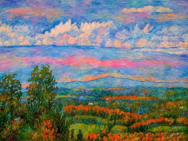 Painting - Blue Ridge Cloud Burst by Kendall Kessler