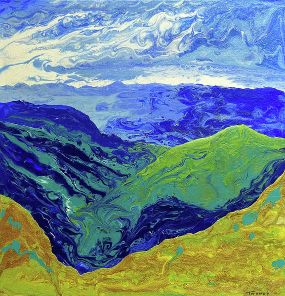 Painting - Blue Ridge Cloud Shadows 1.0 by Catherine Twomey