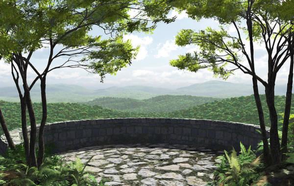 Wall Art - Digital Art - Blue Ridge by Cynthia Decker