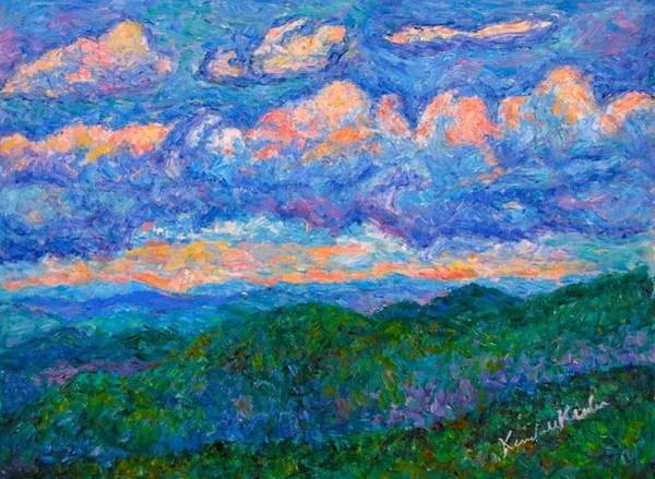 Painting - Blue Ridge Magic From Sharp Top  by Kendall Kessler