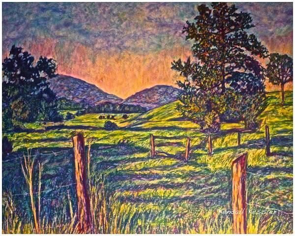 Painting - Blue Ridge Meadow Sunset by Kendall Kessler