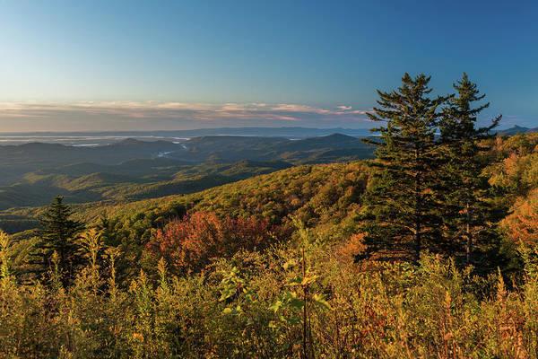 Photograph - Blue Ridge Mountain Autumn Vista by Mike Koenig