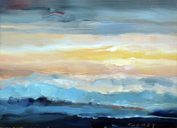 Alla Prima Painting - Blue Ridge Mountain Sunset 1.0 by Catherine Twomey