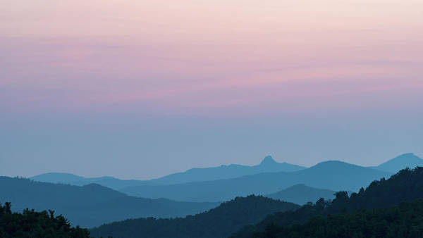 Blue Ridge Mountains After Sunset Art Print