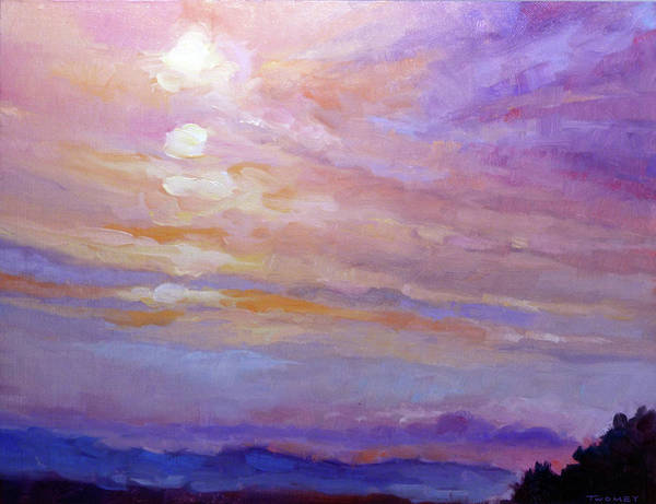 Alla Prima Painting - Blue Ridge Mountains Sunset 1.2 by Catherine Twomey