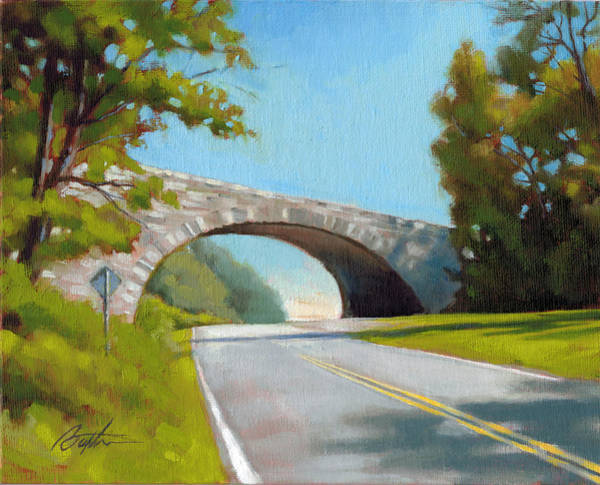 Tunnel Painting - Blue Ridge Overpass by Todd Baxter