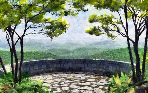 Wall Art - Digital Art - Blue Ridge Painted by Cynthia Decker