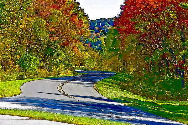 Chs Digital Art - Blue Ridge Parkway Interpretation by Ches Black