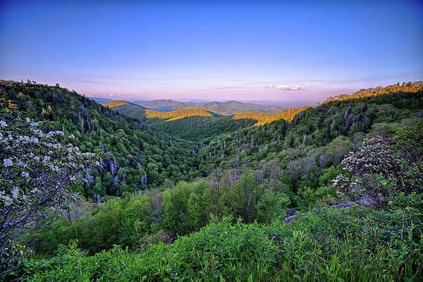 Photograph - Blue Ridge Parkway Summer Appalachian Mountains Sunset by Alex Grichenko