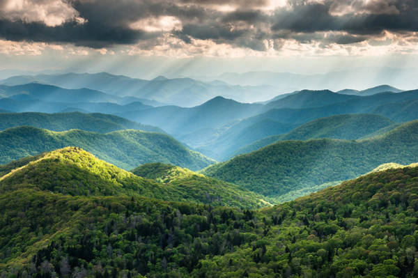 Appalachian Mountains Photograph - Blue Ridge Southern Appalachian Mountain Light Show by Mark VanDyke