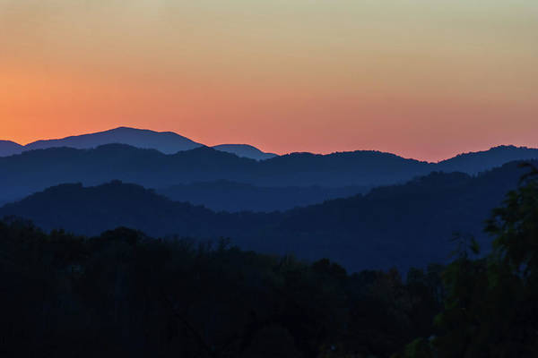 Photograph - Blue Ridge Sunset by Louise Lindsay