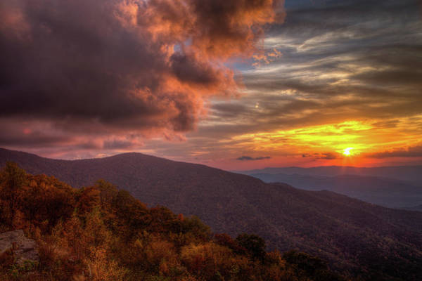 Civilian Conservation Corps Photograph - Blue Ridge Sunset by Tom Weisbrook