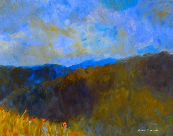 Painting - Blue Ridge Swirl by Kendall Kessler