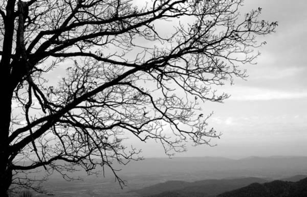 Wall Art - Photograph - Blue Ridge View - B W by Arlane Crump