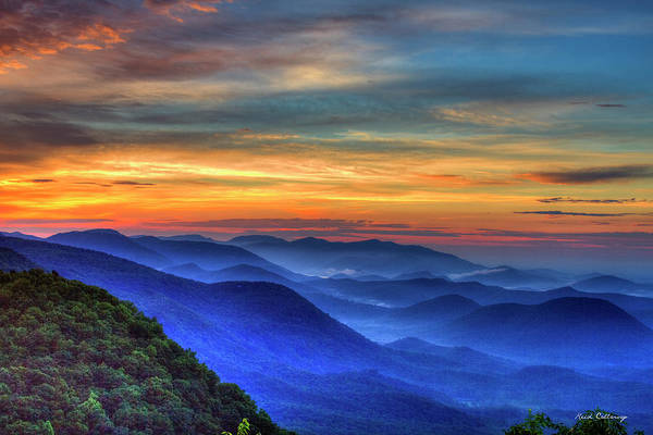 Photograph - Blue Ridges 2 Pretty Place Chapel View Great Smoky Mountains Art by Reid Callaway