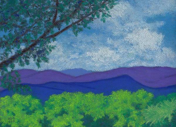 Pastel - Blue Ridges 4 by Anne Katzeff