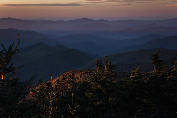 Photograph - Blue Ridges Mt Mitchell North Carolina by Terry DeLuco