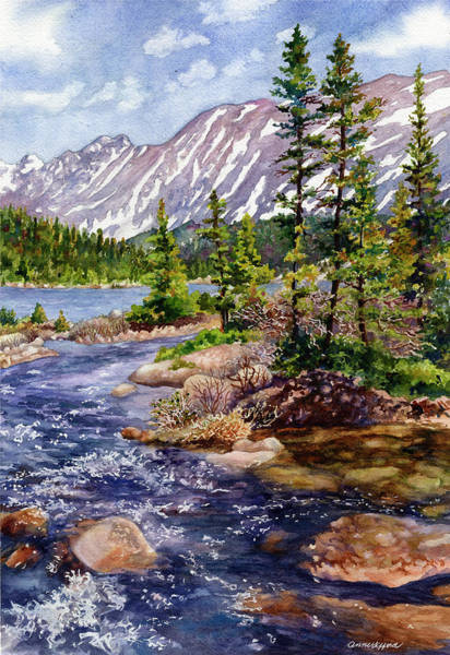 Painting - Blue River by Anne Gifford
