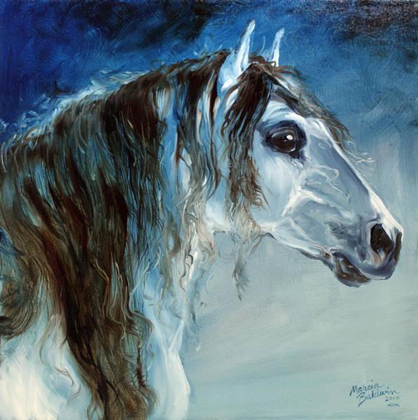 Painting - Blue Roan Twilight by Marcia Baldwin