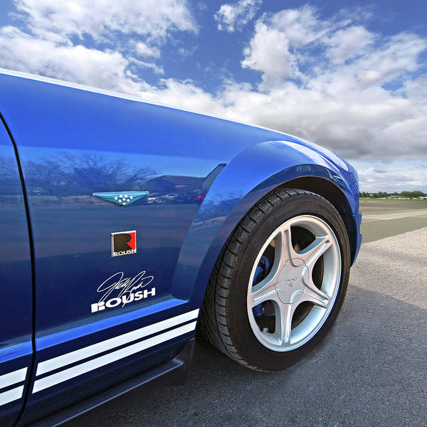 Photograph - Blue Roush Mustang by Gill Billington