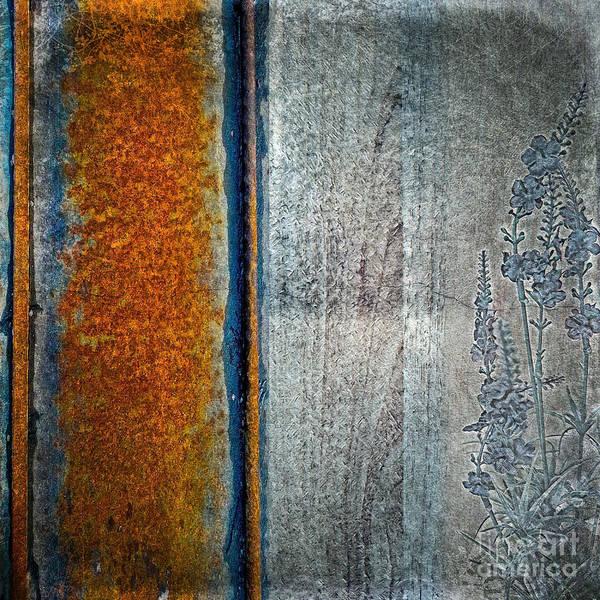 Mixed Media - Blue Rust by Lita Kelley