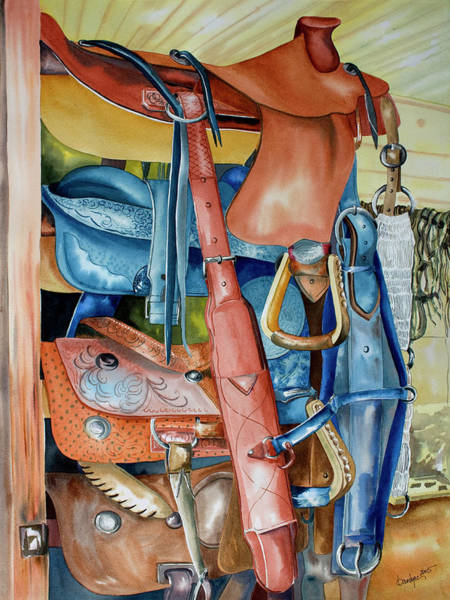 Painting - Blue Saddle by Kandyce Waltensperger