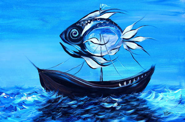 Painting - Blue Sail Fish by J Vincent Scarpace