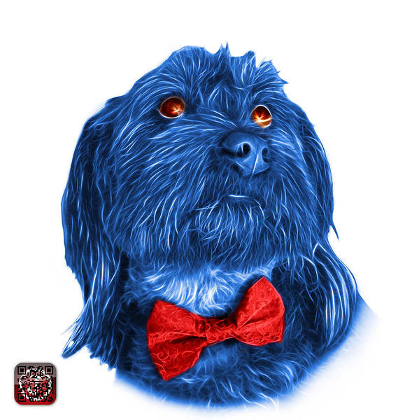 Painting - Blue Schnoodle Pop Art - 3687 by James Ahn