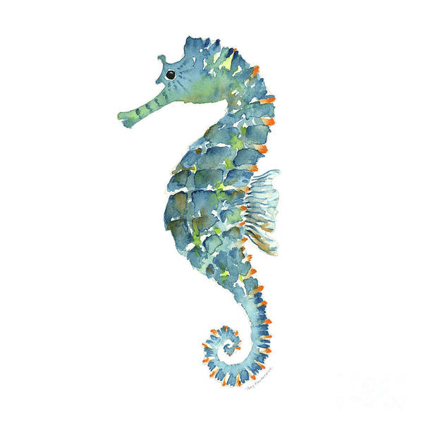 Painting - Blue Seahorse by Amy Kirkpatrick