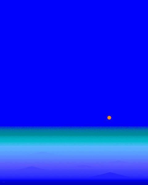 Digital Art - Blue Seas by Val Arie