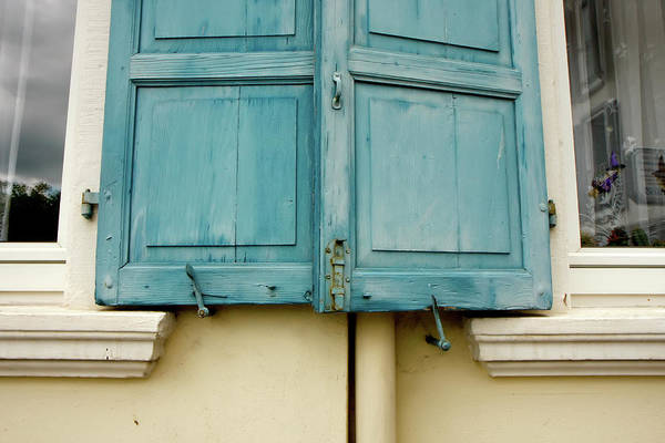 Photograph - Blue Shutters Rudesheim by KG Thienemann