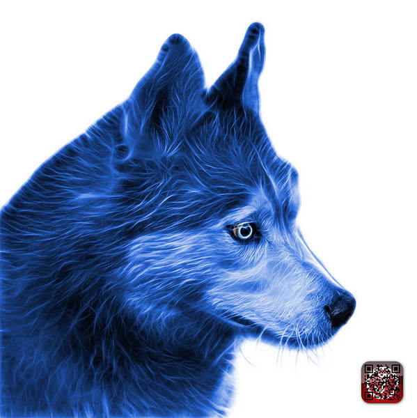 Painting - Blue Siberian Husky Art - 6048 - Wb by James Ahn