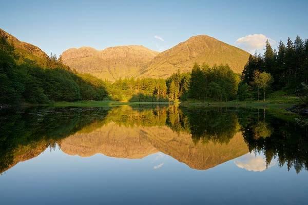 Bidean Nam Bian Photograph - Blue Skies At Torren Lochan by Stephen Taylor