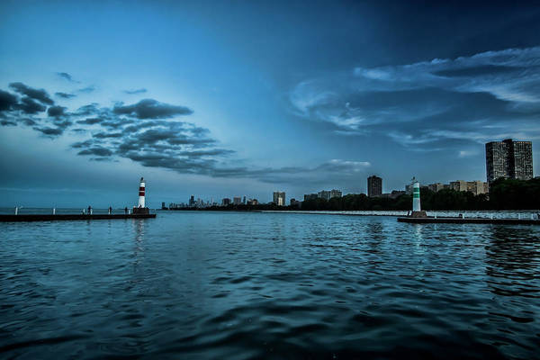 Photograph - Blue Skies On Chicago's Lakefront by Sven Brogren