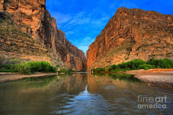 Photograph - Blue Skies Over Santa Elena Canyon by Adam Jewell