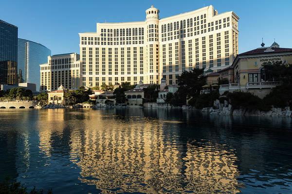 Photograph - Blue Sky And Sunshine - Reflecting On Bellagio Las Vegas by Georgia Mizuleva