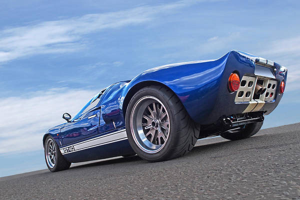 Photograph - Blue Sky Day - Ford Gt 40 by Gill Billington