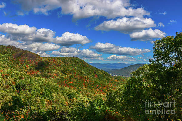 Photograph - Blue Sky Mountain View by Tom Claud