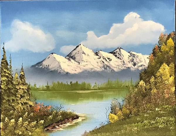 Wall Art - Painting - Blue Sky Mountain by Willy Proctor