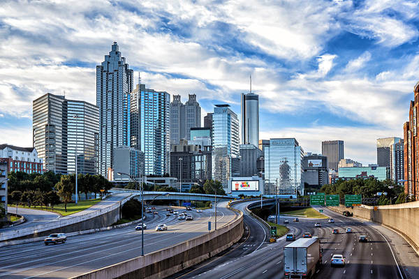 Hotlanta Photograph - Blue Sky Over Atlanta by Glen Dykstra