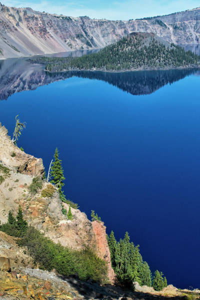 Photograph - Blue Sky Reflection Crater Lake by Frank Wilson