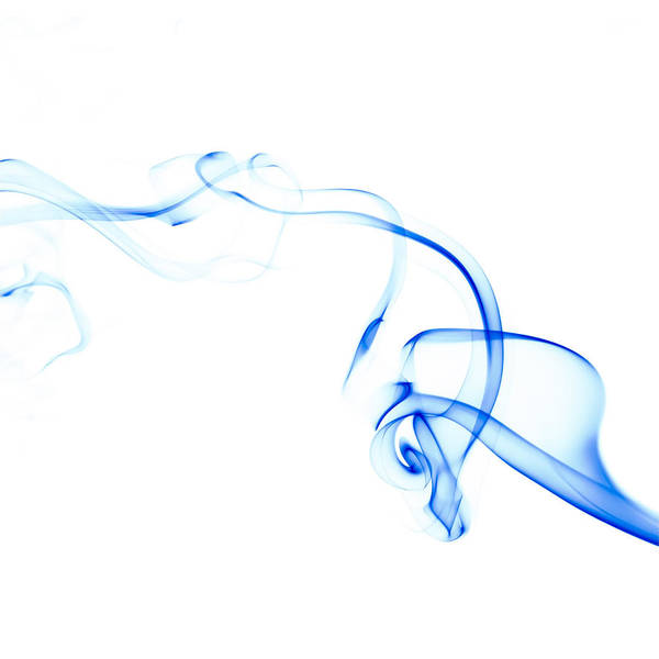 Abstract Smoke Photograph - Blue Smoke by Scott Norris