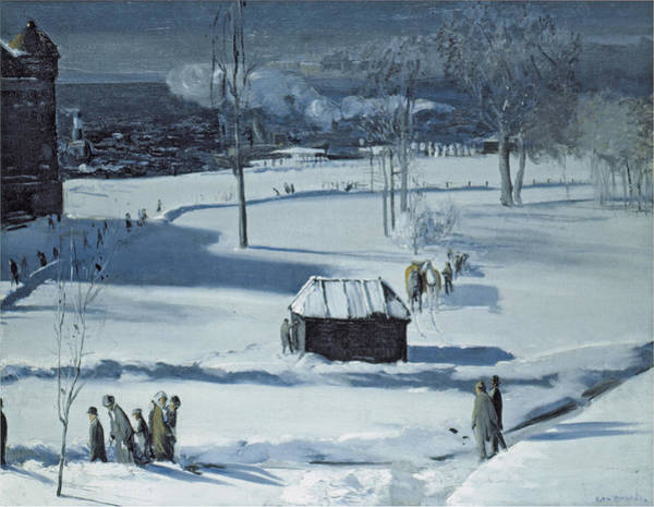 Photograph - Blue Snow, The Battery by George Bellows