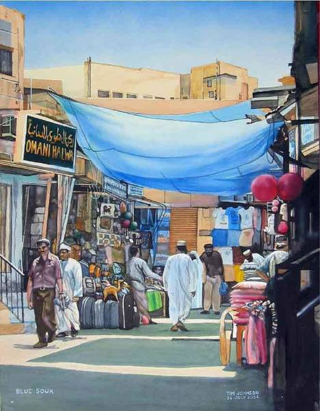 Painting - Blue Souk by Tim Johnson