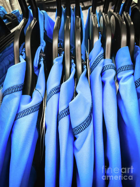 Protective Clothing Photograph - Blue Sports Tops by Tom Gowanlock