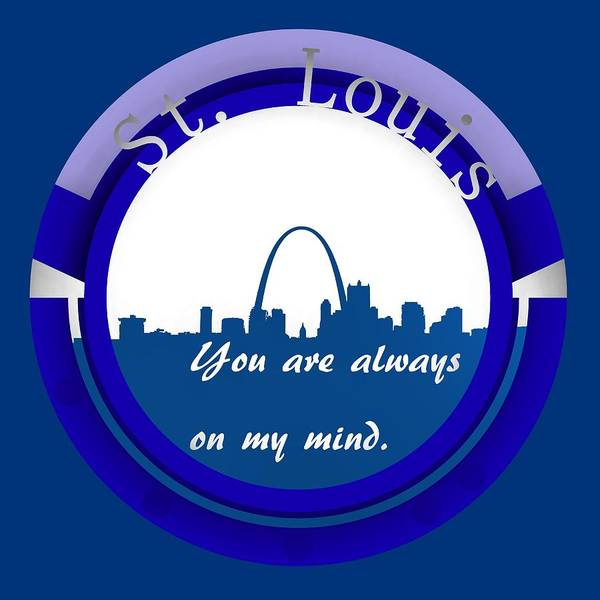 Digital Art - Blue St. Louis On My Mine. by Alberto RuiZ
